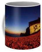 Night At Etretat Beach Coffee Mug
