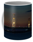 Night At Mackinac Bridge Coffee Mug