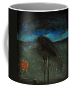 Night Bird With Red Square Coffee Mug
