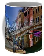 Night Bridge In Venice Coffee Mug