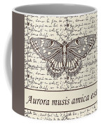 Night Butterfly On Old Letter Coffee Mug