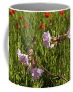Night Flowering Catchfly And Poppies Coffee Mug