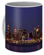 Night Lights Of Downtown Vancouver Coffee Mug