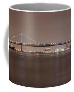 Night On The Delaware - The Benjamin Franklin Bridge Coffee Mug