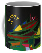 Night On The Green Fractures And Lights Coffee Mug