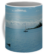 Night Sailing At Port Hope Bay Michigan Coffee Mug