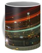 Night Shot Of Downtown Los Angeles Skyline From 6th St. Bridge Coffee Mug