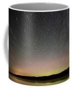 Night Shot Star Trails Lake Coffee Mug