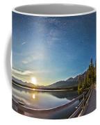 Night Sky Panorama Of Pyramid Lake Coffee Mug