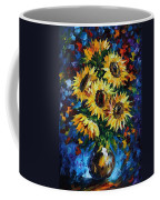 Night Sunflowers Coffee Mug