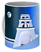 Night Taking Over The Day Of Church In Greece Crete 2 Coffee Mug