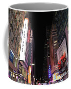 Night Time At Times Square Coffee Mug