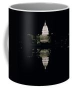 Night View Of The Capitol Coffee Mug by American School