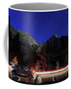 Night View Of The Upper And Lower Yosemite Fall Coffee Mug