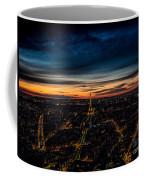 Night View Over Paris With Eiffel Tower Coffee Mug