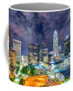 Night View Scenes Around Charlotte North Carolina Coffee Mug