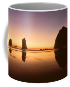 Nightfall At Cannon Beach Oregon Coffee Mug