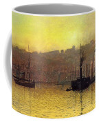 Nightfall In Scarborough Harbour Coffee Mug