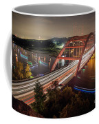 Nighttime Boats Cruise Up And Down The Loop 360 Bridge, A Boaters Paradise With Activities That Include Boating, Fishing, Swimming And Picnicking - Stock Image Coffee Mug