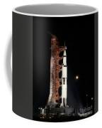Nighttime View Of The Apollo 12 Space Coffee Mug