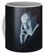 Nikola Tesla - Blue Portrait Coffee Mug
