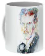 Nikola Tesla - Watercolor Portrait.3 Coffee Mug