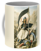 Nikolakis Mitropoulos Raises The Flag With The Cross At Salona On Easter Day 1821 Coffee Mug