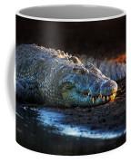 Nile Crocodile On Riverbank-1 Coffee Mug