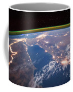 Nile River At Night From Iss Coffee Mug