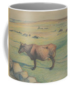 Nils Kreuger, 1858-1930, Cow In The Meadow Coffee Mug