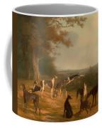 Nine Greyhounds In A Landscape Coffee Mug
