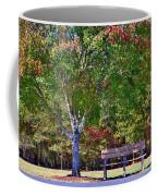 Ninety Six National Historic Site Bench In Autumn  Coffee Mug