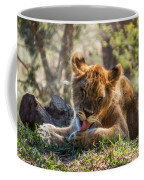 Lion Cub Lick Coffee Mug