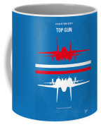 No128 My Top Gun Minimal Movie Poster Coffee Mug