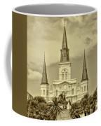 Nola - Jackson Square In Sepia Coffee Mug