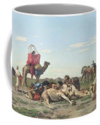 Nomads In The Desert Coffee Mug by Georges Washington