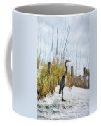 Norriego Point Heron Coffee Mug by Mel Steinhauer