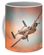 Pacific Princess North American B-25 Mitchell Across Rosy Skies Coffee Mug