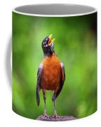 North American Robin In Song Coffee Mug