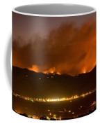 North Boulder Colorado Fire Above In The Hills Coffee Mug