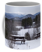 North Conway Winter Mountains Coffee Mug