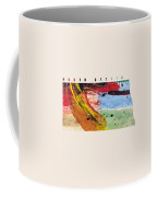 North Dakota Map Art - Painted Map Of North Dakota Coffee Mug