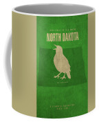 North Dakota State Facts Minimalist Movie Poster Art Coffee Mug