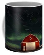 Northern Lights Canada Barn Coffee Mug