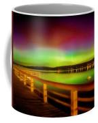 Northern Lights Over Okanagan Lake Canada Coffee Mug