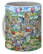 Northern Virginia Map Illustration Coffee Mug