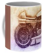 Norton Manx 2 - Norton Motorcycles - 1947 - Vintage Motorcycle Poster - Automotive Art Coffee Mug