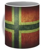 Norway Distressed Flag Dehner Coffee Mug