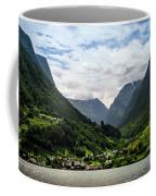 Norwegian Fjord Village Coffee Mug by KG Thienemann
