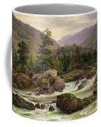 Norwegian Waterfall Coffee Mug by Thomas Fearnley